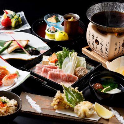11・12月おすすめディナー「県産牛すき鍋と冬の味覚会席」