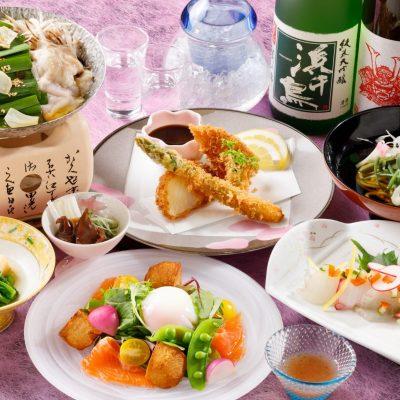 歓送迎会プラン「春キャベツと牛ホルモン鍋コース」