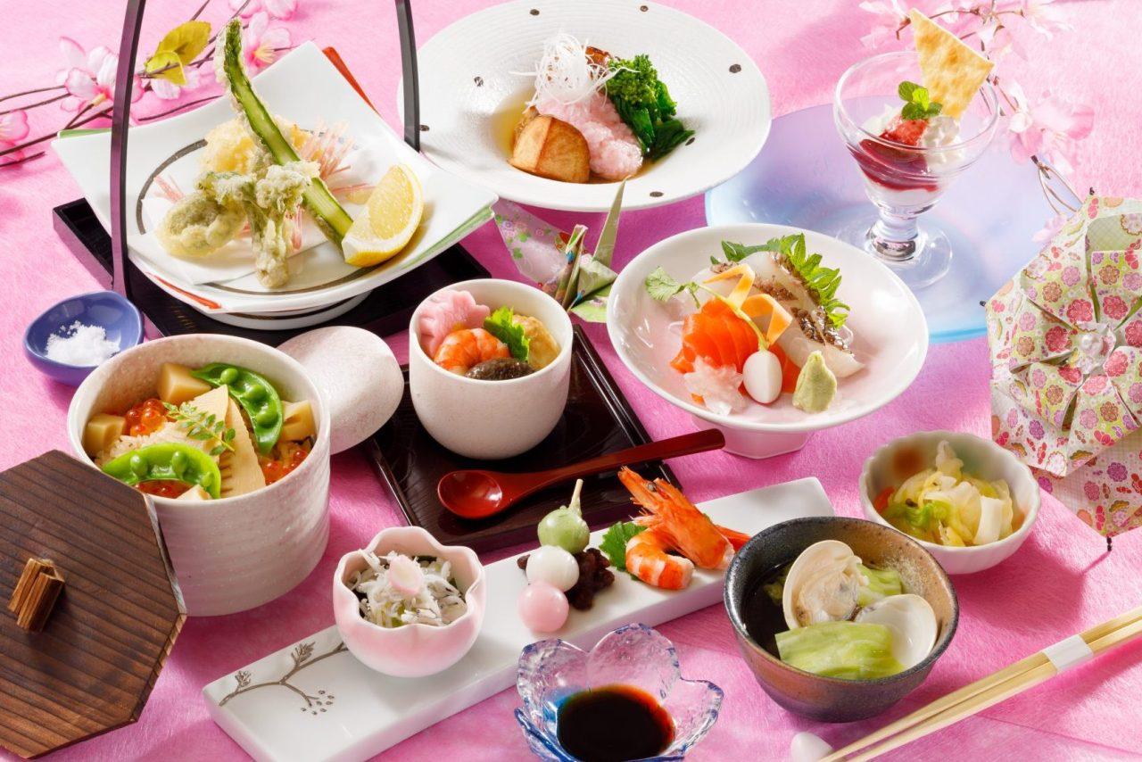 3・4月おすすめランチ「筍御飯と春野菜の天婦羅御膳」