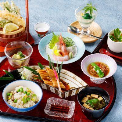 5・6月おすすめランチ「江戸前穴子・青豆・山菜新緑御膳」
