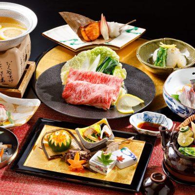 9・10月おすすめディナー「前沢牛の柚子しゃぶと県産松茸の土瓶蒸し会席」