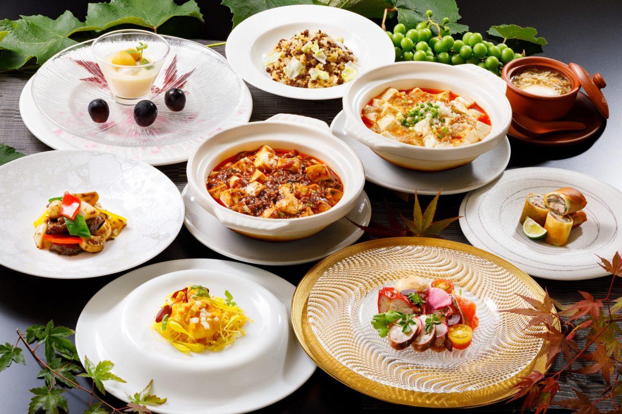 9・10月おすすめディナーコース「赤白選べる麻婆豆腐コース」